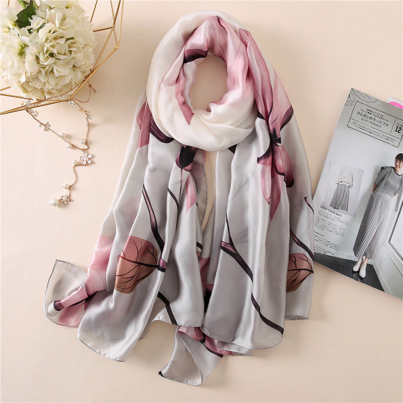 Primary image for Scarves Women Beach Stole Bandana Silk Scarf Shawl Echarpe Print Wrap