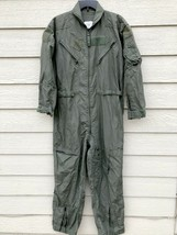 US AIR FORCE USAF NOMEX FIRE RESISTANT FLIGHT SUIT GREEN CWU-27/P - 40R - $54.45