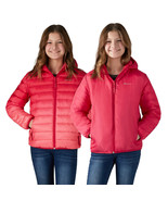 NEW Eddie Bauer Youth Reversible Down Jacket, Pink Ombre/Red**FREE SHIPP... - $38.49
