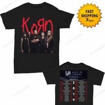 Korn t Shirt North American Tour 2019 T-Shirt Size Men Black Gildan 2 side - $22.99+