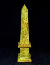 """220MM (9"""") Green Vesuvianite Chakra Healing Power Pietra dura Obelisk Tower - $173.25"""