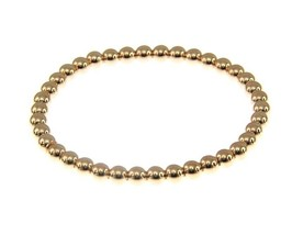 18K ROSE GOLD BRACELET, SEMIRIGID, ELASTIC, 4 MM SMOOTH BALLS SPHERES image 1