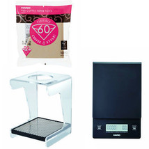 Hario V60 Set - Scale, Drip Station & 100 Paper Filters - All 3 Together - $95.03