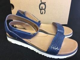 Ugg Australia Laddie Women's Ankle Strap Marino Blue Sandal 1015817 size 9.5 - $79.99