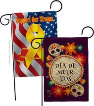 Celebrate Dia de Muertos Burlap - Impressions Decorative Support Our Troops Gard - $34.97