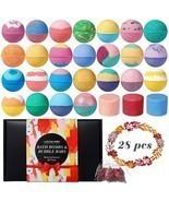 28 Organic & Natural Bath Bombs, Bubble Bath Bomb Gift Set, Fizzy Spa to... - $19.95