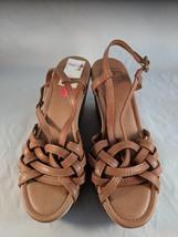 Lucky Brand Brown Strappy Platform Wedge Sandals Size 10 - $24.99