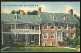 New Jersey The Old Barracks Trenton NJ Tichnor Linen 1941 Postcard - $4.99