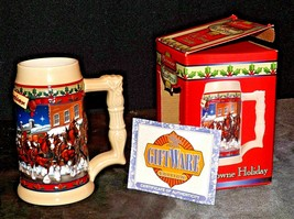 2003 Budweiser Holiday Stein with box AA20-2273 Vintage Collectible