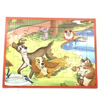 Walt Disney Jaymar Lady and the Tramp Tray Frame Puzzle Mickey Mouse Club 30 Pc - $7.69