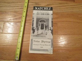 Natchez on the Mississippi Pilgrimage 1960 tourist brochure travel - $1.99