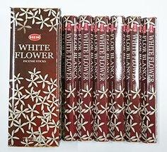 HEM White Flower Hexa Incense Stick, 6Packs X 20 Sticks= 120 Sticks - $9.65