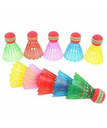 10 Piece Colorful Badminton Ball Shuttlecock Game Feather Balls Set Trai... - $13.62