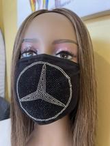 Mercedes Benz Rhinestone Bling Face Mask Washable Crystal - $18.32