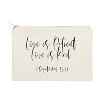 The Cotton & Canvas Co. Love is Patient Love is Kind Cosmetic Bag - $14.99
