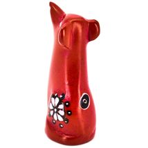Vaneal Group Hand Carved Kisii Soapstone Red Puppy Dog Miniature Figurine image 3