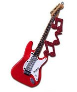 Guitar with Notes Ornament - $10.95