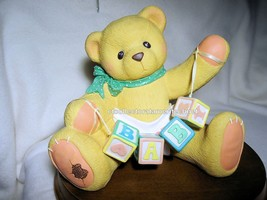 Cherished Teddies Bank - Baby Bear w Blocks 1997  Used In Box - $22.72