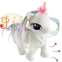 Houwsbaby Musical Unicorn Electronic Toys Interactive Night Light Horn Animated