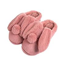 Women Plush Slippers Winter Cartoon Indoor Slippers Household Slippers RED