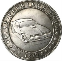 New Hobo Nickel 1879 USA Morgan Dollar Car GTO Pontiac Casted Coin - $11.99
