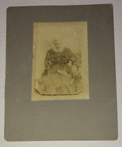 Vintage Antique Photo Early 1900's / Late 1800's ~ Severe Old Southern W... - $9.89