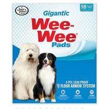 """Four Paws Wee-Wee Pads 18 pack Gigantic White 27.5"""" x 44"""" x 0.1"""" - $16.99"""