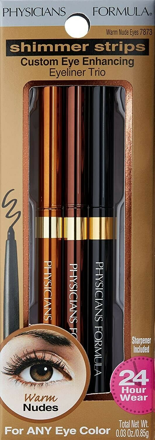 Physicians Formula Shimmer Strips Eyeliner Trio 7873 WARM NUDE New - $12.38
