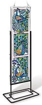 Amia 42022 Hand Painted Beveled Glass Triptych Decor Panel, 4-1/2 by 16-... - $32.52