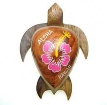 """Nuevo Hawaiian Recuerdo Imán de Nevera ~ 4"""" Grande Madera Turtle #18125 ... - $9.38"""