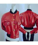 1990s Escada Margaretha Ley Germany real leather bomber jacket Cataloque piece - $345.00