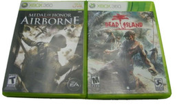Xbox 360 Lot (2) Dead Island, Medal of Honor Airborne  - $16.99
