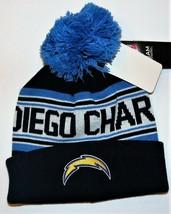 NFL Team Apparel Boys San Diego Chargers Winter Pom Pom Hats Size 8/20 NWT - $13.57