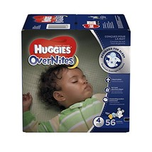 HUGGIES OverNites Diapers, Size 4, 56 ct., BIG PACK Overnight Diapers Pa... - $25.75