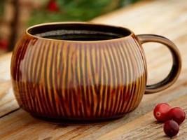 Starbucks 2013 Coffee Tea Stackable Mug Limited TIKI 12 oz BROWN COCONUT... - $12.29
