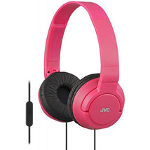 JVC Lightweight Powerful Bass Foldable Headphones with Remote & Mic - Red - $26.95