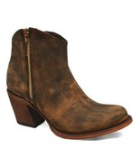Redhawk Boot Co. Womens Sand Kristina Leather Round-Toe Ankle Boot SIZE 10 - $98.95
