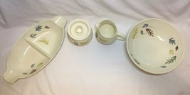 Franciscan Autumn 5 Piece Serving Set Sugar Cream Vegetable Bowl Split Cass - $42.55