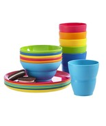 Kids Small Plastic Tumblers Snack Bowls & Snack Plates 18-piece set - $22.76