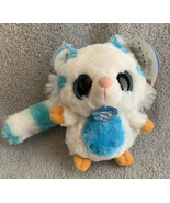 "YooHoo & Friends Aurora White Tiger MUHON W/ Noise Plush 5"" NWT White Bl... - $9.99"