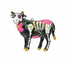 GALLERIE II BARNYARD DAY OF THE DEAD COW HALLOWEEN CHRISTMAS ORNAMENT  - $12.88