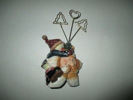 Santa Star & Snowman Christmas Decoration Shelf Counter Center piece - $4.99