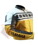 YAMAHA 6728 YELLOW MOTORBIKE ARMOURED COWHIDE LEATHER MOTORCYCLE BIKERS ... - $194.99