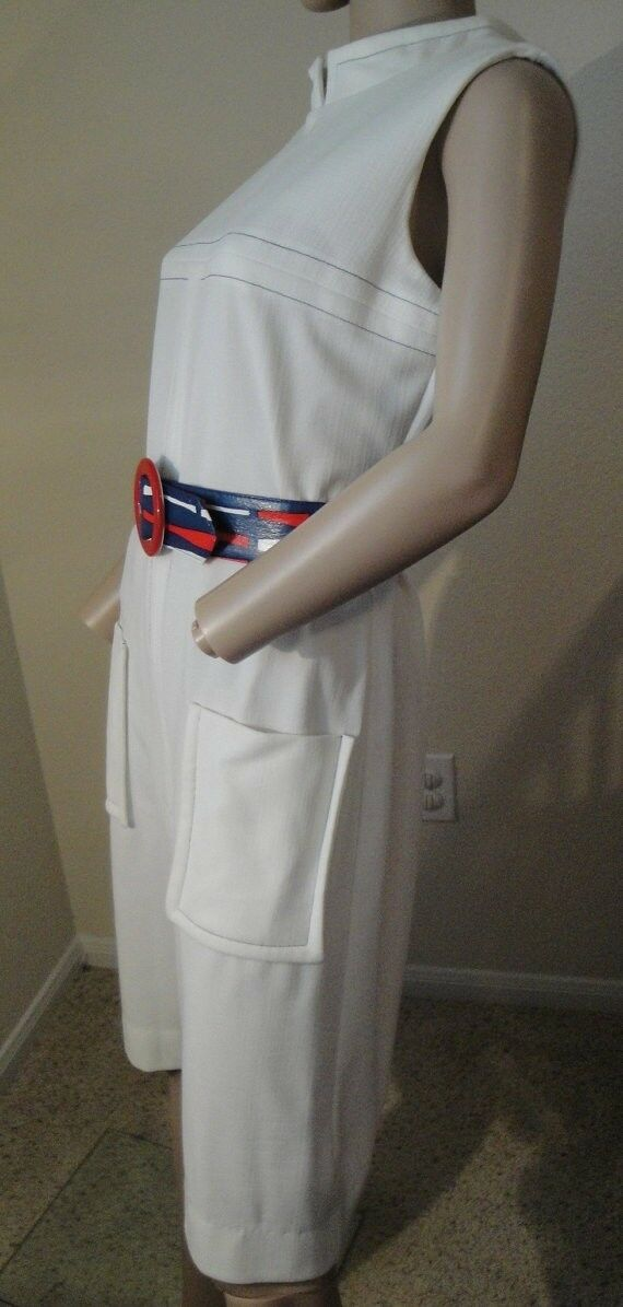 Vintage Deadstock 18.3ms Nautique Pinup Go-Go Mod Scooter Twiggy Espace Âge Robe