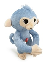 Plush Baby Monkey 10 in w/ Sound Bendable Arms & Legs Blue Glitter - $14.35