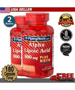 Alpha Lipoic Acid Biotin Optimizer 600mg Nerve Function Energy Supplemen... - $47.02