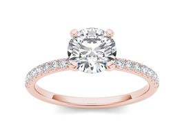 IGI Certified 14K Rose Gold 1.25 Ct Diamond Classic Solitaire Engagement... - $3,259.99