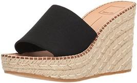 Dolce Vita Women's PIM Espadrille Wedge Sandal, Black Elastic, 9.5 M US - $58.50