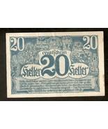 Austria Land Oberosterreich 20 Heller 1920 Austrian Notgeld banknote - $4.85