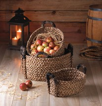 Cattail Straw Woven Nesting Baskets - $44.95